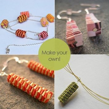 DIY woven paper beads tutorial