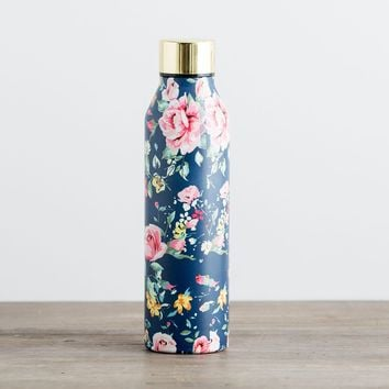 Floral Stainless Steel Water Bottle - Augusta