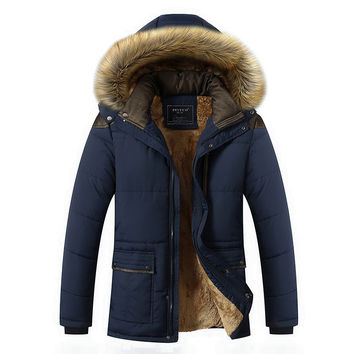 Winter Men Plus Size Men's Fashion Thicken Jacket Coat Outfit [9072640707]