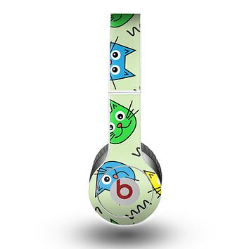 The Colorful Cat iCons Skin for the Beats by Dre Original Solo-Solo HD Headphones