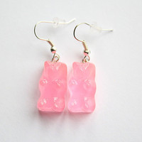 Pink Gummy Bear Earrings