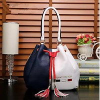 TOMMY HILFIGER Women Shopping Bag Leather Tote Handbag Satchel Bag