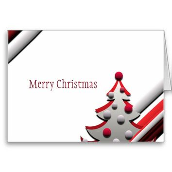 Christmas Tree red greeting cards