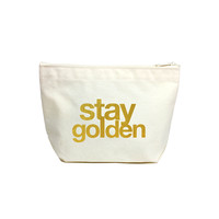 Stay Golden Lil' Zip, Gold | Dogeared