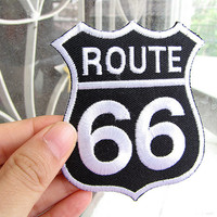 1 Dollar Shipping - Iron On Patch - American Route 66 Patch / Applique