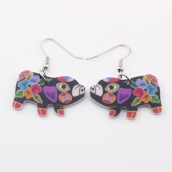 Drop pig earrings acrylic dangle Claus  news spring summer girl woman  fashion  jewelry accessories cute animal