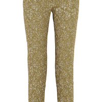 Rochas - Metallic jacquard straight-leg pants
