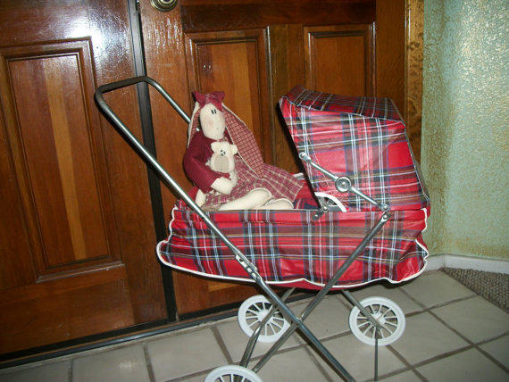 1950s Doll Stroller Easy Fold Carriage From