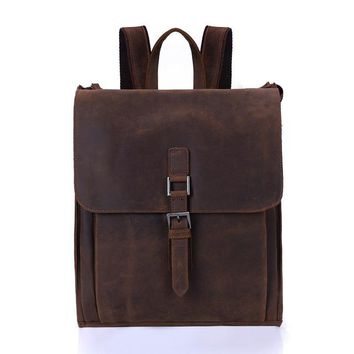 University College Backpack NIUBOA Leather Man  High Quality Euro Genuine Leather Bags  Preppy School Retro  for Laptop Cowhide BagsAT_63_4