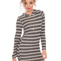 Liberty Stripe Hoodie Dress