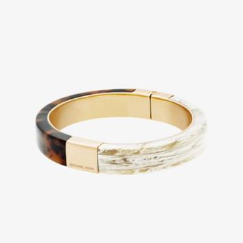 Gold-Tone Color-Block Hinge Bracelet | Michael Kors