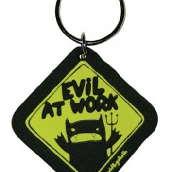 David & Goliath Monster Mash Rubber Keychain - Evil At Work - Buy Online at Grindstore.com