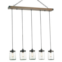 Currey & Company Firefly Rectangular Chandelier