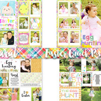 Easter Templates, Quick Pages, Digital Scrapbook, Easter Quick Pages, PNG, ready for photos, Photography, Spring Overlays, Easter Overlays