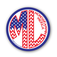 Marley Lilly Monogrammin' 'Merica Logo Promotional Sticker | Marley Lilly