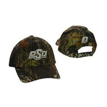 NCAA Officially Licensed Oklahoma State University Cowboys (OSU) Mossy Oak Camo Baseball Hat Cap Lid