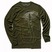 Distressed Mushroom Long Sleeve