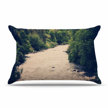 "Sylvia Coomes ""Cold Stream"" Green Photography Pillow Case"