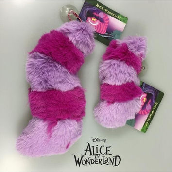 1PCS/SET SUPER CUTE ALICE IN WONDERLAND CHESHIRE CAT TAIL SOFT STUFF PLUSH TOY DOLL BIRTHDAY GIFT COLLECTION