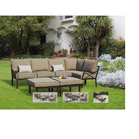 7-Piece Outdoor Sofa Sectional Set, Seats 5 Fun Summer New Free Shipping Sun