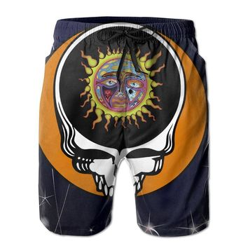 Steal Your Face Sublime Ska Punk Band Mens Fashion Casual Beach Shorts