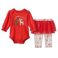 Rudolph the Red-Nosed Reindeer Clarice Bodysuit & Tutu Leggings Set by Baby Starters - Baby