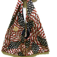 American Flag Purse/Red, White, and Blue