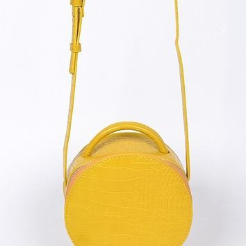 Mad Mini Hatbox Purse Yellow