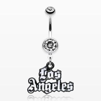 Los Angeles Logo Belly Ring