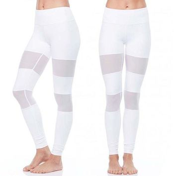 LMFOK2 Mesh White /Black  Leggings