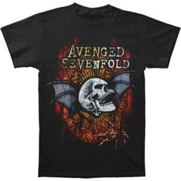 Avenged Sevenfold Men's  AVS Through The Fire Mens Regular T T-shirt Black