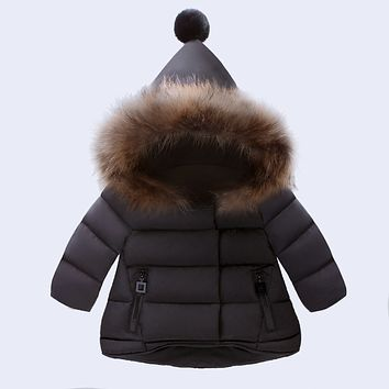 New Baby Winter Coat Children Novelty Cartoon Hooded Cotton Coat For 0 Month to 3 Years Old Kids Wear Clothes
