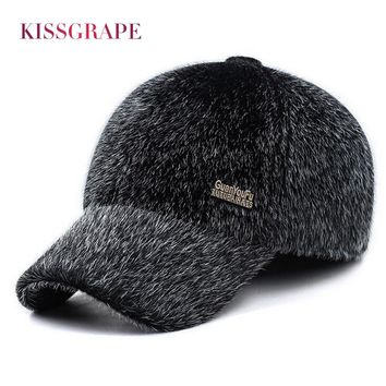 2017 Winter Men's Warm Baseball Caps with Ear Flaps in Cold Weather Families Dad's Warm Hats Father's Best Gifts Keep Warm Hats