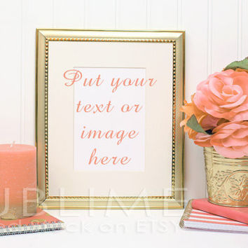 Styled Stock Photography / Blank Frame / Mock up / Gold Frame / Empty Frame / Instant Download / JPEG Digital Image / StockStyle-330