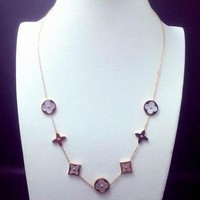LV Woman Fashion Chain Plated Necklace