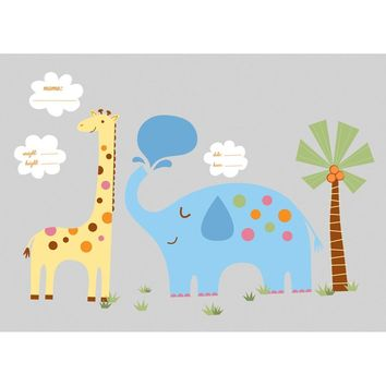Jungle Animals Wall Accent Set New Baby Nursery Stickers