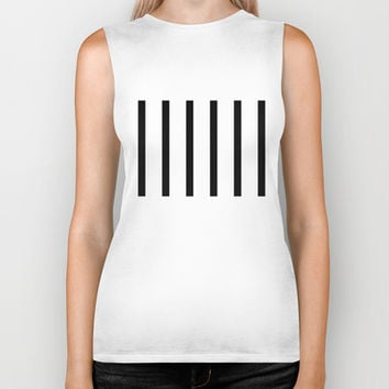Black and White.  Biker Tank by Irmak Berktas