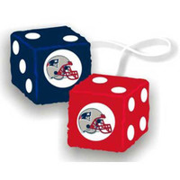 New England Patriots NFL 3 Car Fuzzy Dice