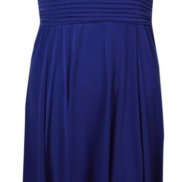 Sangria Women's Hi-Lo Sleeveless Keyhole Dress