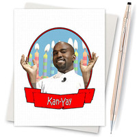 Birthday Card. Funny Blank Card. Kanye West. Funny Gift. Gifts For Husband. Dad. Birthday Card Husband. Kanye Birthday. Birthday For Her.