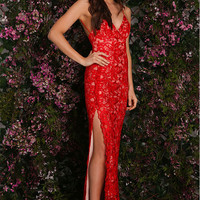Viva Lace Gown Red