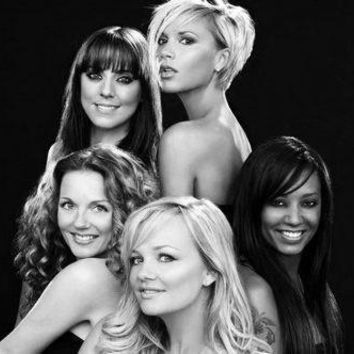 "Spice Girls Poster Black and White Poster 16""x24"""