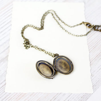 Violin Oval locket necklace - Antique Bronze Photo Art Locket  - Sheet music jewelry - Free Shipping