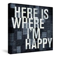 Here is Where Canvas Wall Art
