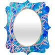 Rosie Brown Coral Fan Quatrefoil Mirror
