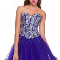 NariaNNa Women's Dress with Bling