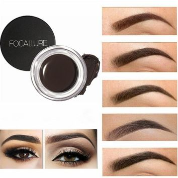 5 Colors Eyebrow Pomade Gel Waterproof Maquiagem Makeup Accessories Eye brow Eye Liner Gel Long lasting Eye Brow Gel Tint Black