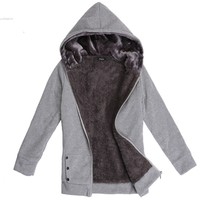 2017Fashion New Korea Women Hoodies Coat Warm Thicken Zip Up Outerwear Sweatshirt jackets winter Coat Casual Winter Jacket Women