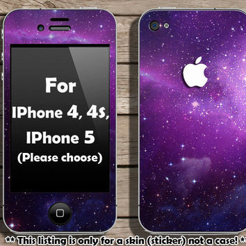 Galaxy skin for IPhone 4 4s and IPhone 5 Please by Heyiamcase