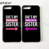 my sister BFF best friends foreve pair silicone softe phone cases for iPhone 5s se 6 6s plus 7 7plus 8 8plus X XR XS MAX